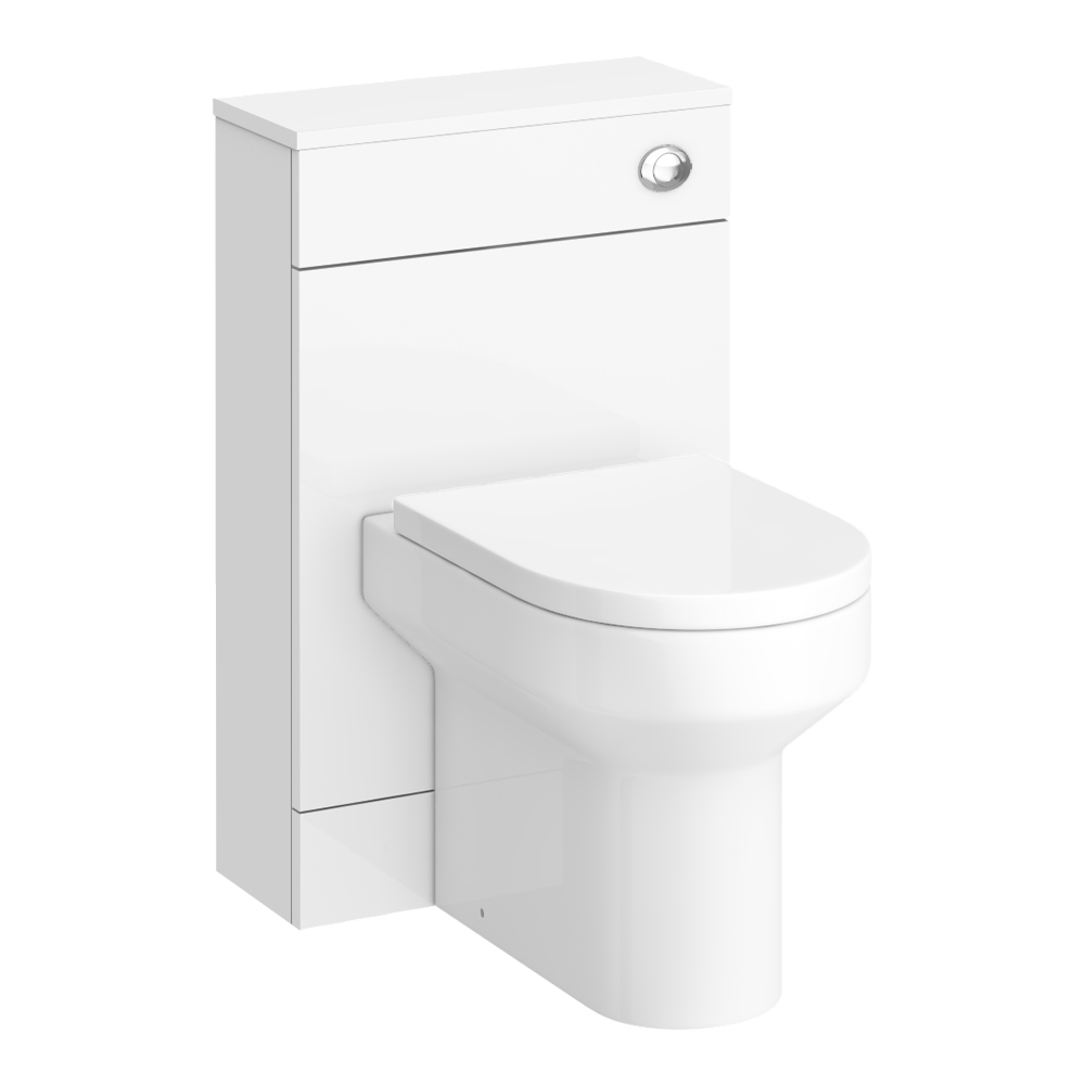 Harmony Gloss White BTW WC Unit with Cistern + Soft Close Seat W500 x D200mm