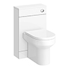 Harmony Gloss White BTW WC Unit with Cistern + Soft Close Seat W500 x D200mm profile small image view 1