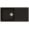 Reginox Harlem 10 1.0 Bowl Granite Kitchen Sink - Black Silvery profile small image view 1