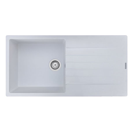 Reginox Harlem 10 1.0 Bowl Granite Kitchen Sink - Pure White
