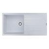 Reginox Harlem 10 1.0 Bowl Granite Kitchen Sink - Pure White profile small image view 1