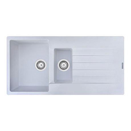 Reginox Harlem 15 1.5 Bowl Granite Kitchen Sink - Pure White