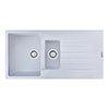 Reginox Harlem 15 1.5 Bowl Granite Kitchen Sink - Pure White profile small image view 1
