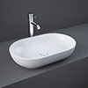 RAK Moon 550 x 350mm 0TH Oval Counter Top Basin - HAROVBAS profile small image view 1
