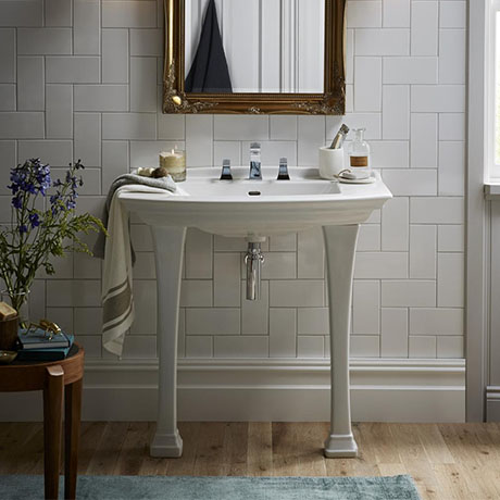 Heritage Blenheim Traditional Ceramic Console Basin & Legs