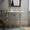 Heritage Blenheim Traditional Ceramic Console Basin & Legs profile small image view 1