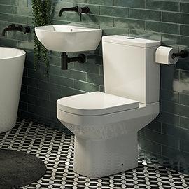 Harmonia Cloakroom Suite 0TH (Basin + Close Coupled Toilet)