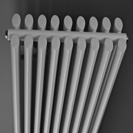 Premier - Cypress Double Panel Radiator - 1800 x 315mm - White - HCY009 profile large image view 2