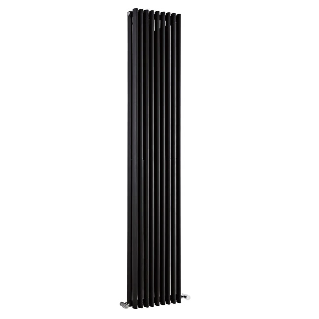 Premier - Cypress Double Panel Radiator - 1800 x 315mm - High Gloss Black - HCY010 Large Image