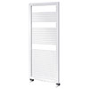 Asquiths Mineral White H1200 x W500mm Round Tube Vertical Radiator - HEA0101 profile small image view 1