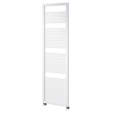 Asquiths Mineral White H1800 x W500mm Round Tube Vertical Radiator - HEA0103