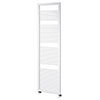 Asquiths Mineral White H1800 x W500mm Round Tube Vertical Radiator - HEA0103 profile small image view 1