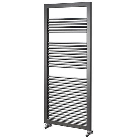 Asquiths Mineral Anthracite H1200 x W500mm Round Tube Vertical Radiator - HEA3102