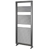 Asquiths Mineral Anthracite H1200 x W500mm Round Tube Vertical Radiator - HEA3102 profile small image view 1