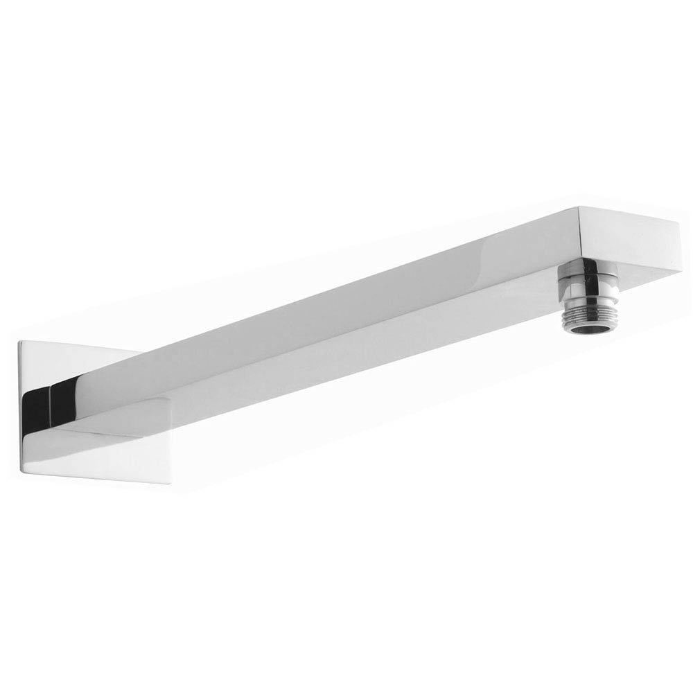 Ultra 200mm Square Fixed Shower Head & Wall Mounted Arm  Feature Large Image