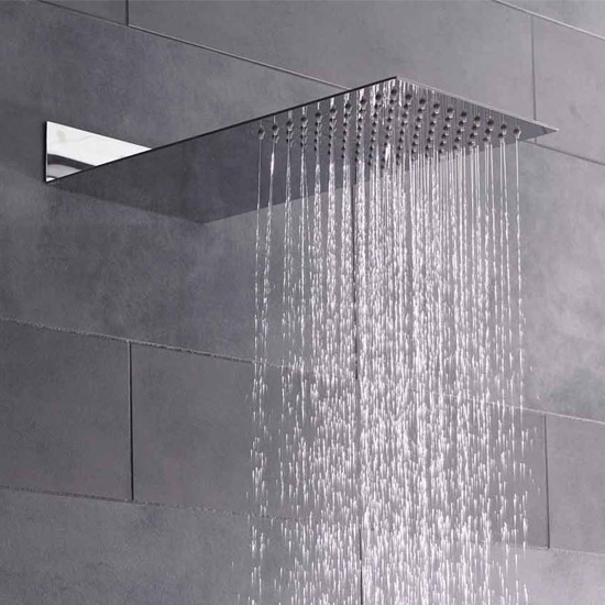 Hudson Reed Ultra Thin Fixed Shower Head - Chrome - HEAD47 profile large image view 2