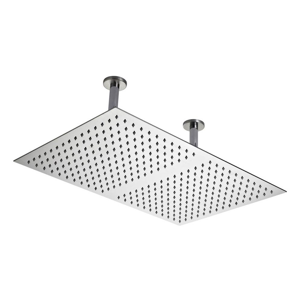 Hudson Reed - Rectangular Dual Ceiling Mounted Shower Head 600 x 400mm- Stainless Steel - HEAD66 Lar