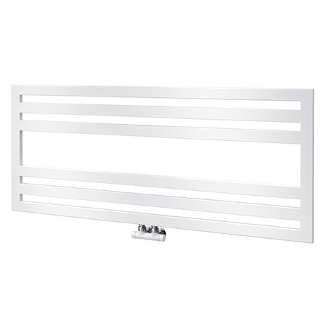 Asquiths Mineral White H500 x W1200mm Flat Tube Horizontal Radiator - HEB0105