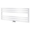 Asquiths Mineral White H500 x W1200mm Flat Tube Horizontal Radiator - HEB0105 profile small image view 1