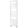 Asquiths Mineral White H1600 x W500mm Flat Tube Vertical Radiator - HEB0109 profile small image view 1