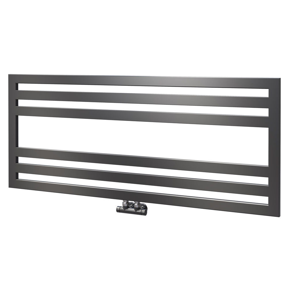 Asquiths Mineral Anthracite H500 x W1200mm Flat Tube Horizontal Radiator - HEB3106