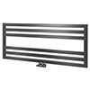 Asquiths Mineral Anthracite H500 x W1200mm Flat Tube Horizontal Radiator - HEB3106 profile small image view 1