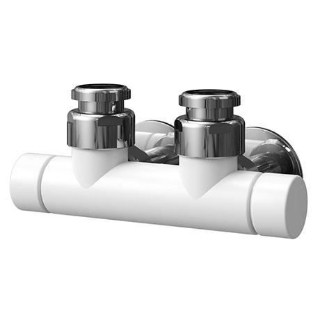 Asquiths Mineral White Central Connection Radiator Valve - HED0128