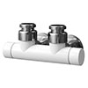 Asquiths Mineral White Central Connection Manual Radiator Valve - HED0128 profile small image view 1