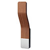 Asquiths Sliver/Teak Single Tube Magnetic Robe Hook - HED3031 profile small image view 1