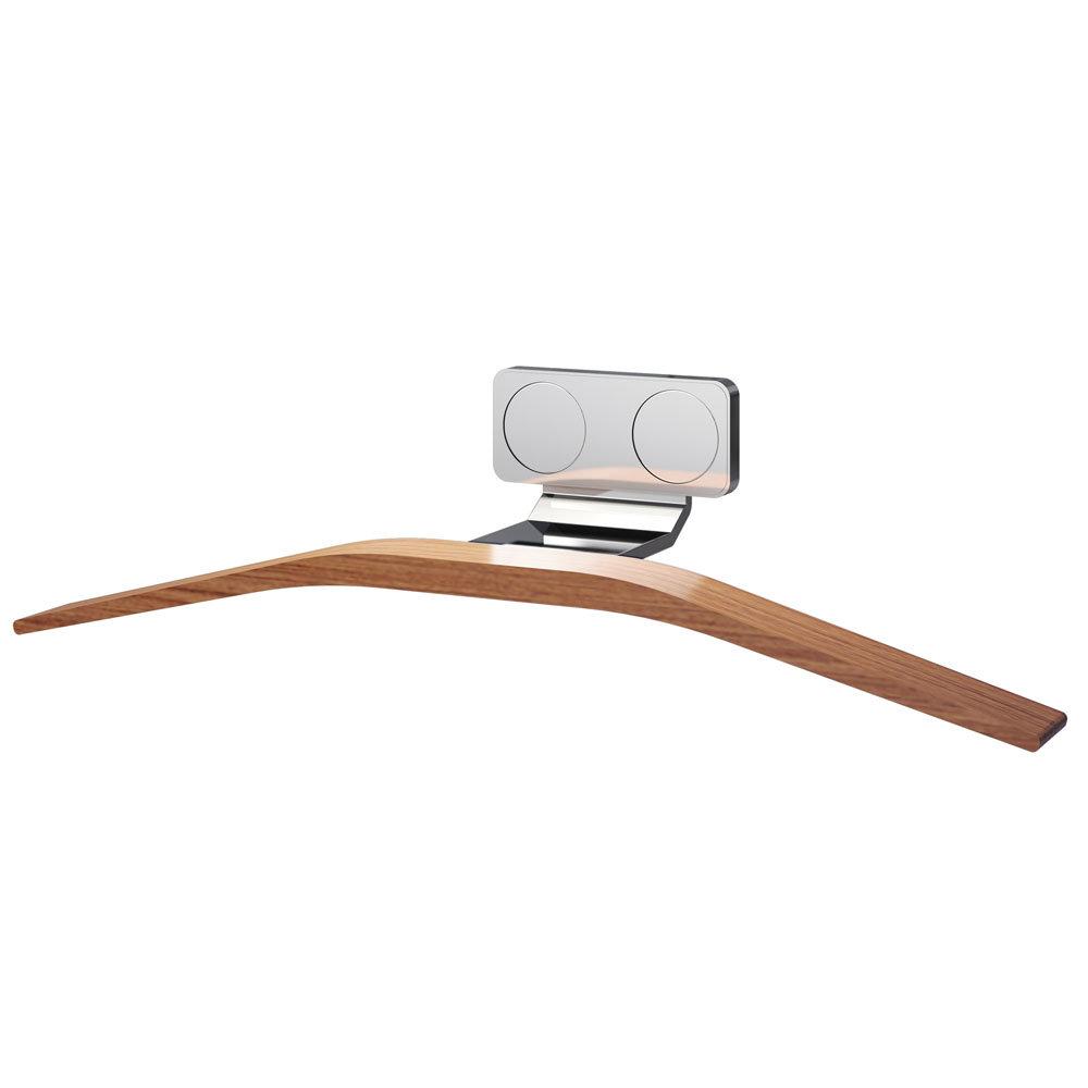 Asquiths Sliver/Teak Single Tube Magnetic Hanger - HED3032
