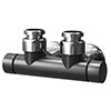 Asquiths Mineral Anthracite Central Connection Manual Radiator Valve - HED3129 profile small image view 1