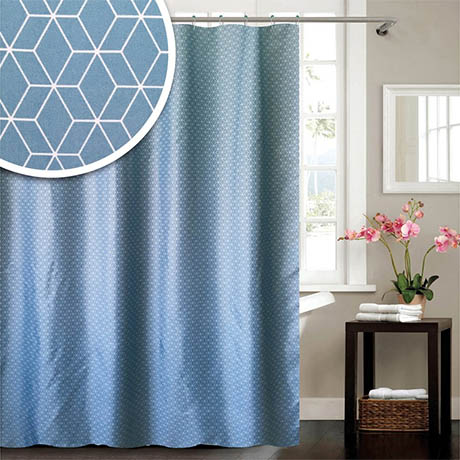 Helix W1800 x H1800mm Polyester Shower Curtain