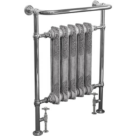 Helmsley Traditional 960 x 675mm Heated Towel Radiator - Chrome