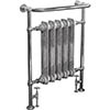 Helmsley Traditional 960 x 675mm Heated Towel Radiator - Chrome profile small image view 1