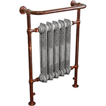 Helmsley Traditional 960 x 675mm Heated Towel Radiator - Copper