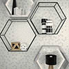 Hex White Mosaic Tile Sheet - 301 x 297mm profile small image view 1