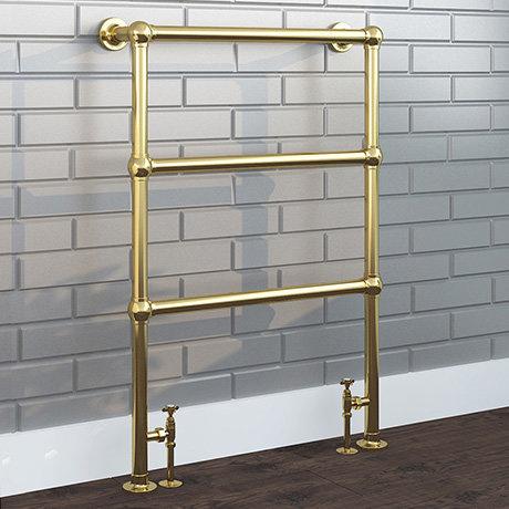 Hamilton Traditional Vintage Gold 966 x 673 Floor Mounted Towel Rail