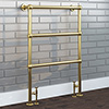Hamilton Traditional Vintage Gold 966 x 673 Floor Mounted Towel Rail profile small image view 1