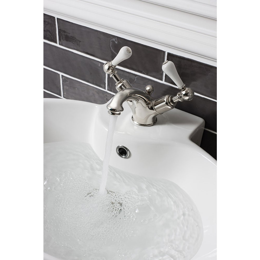 Crosswater - Belgravia Lever Monobloc Basin Mixer Tap with Pop-up Waste - Nickel - HG110DPN_LV profile large image view 2