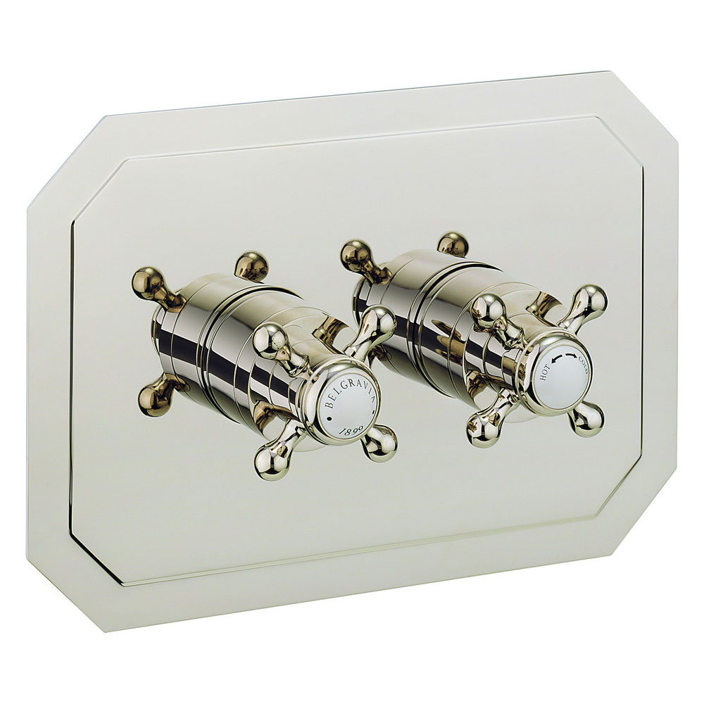 Crosswater - Belgravia Crosshead Thermostatic Shower Valve with 2 Way Diverter - Landscape - Nickel Large Image