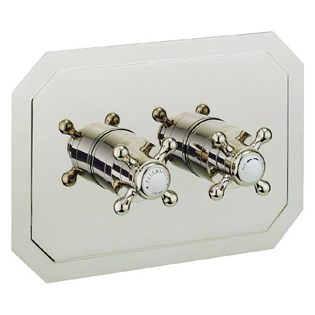 Crosswater - Belgravia Crosshead Thermostatic Shower Valve with 2 Way Diverter - Landscape - Nickel