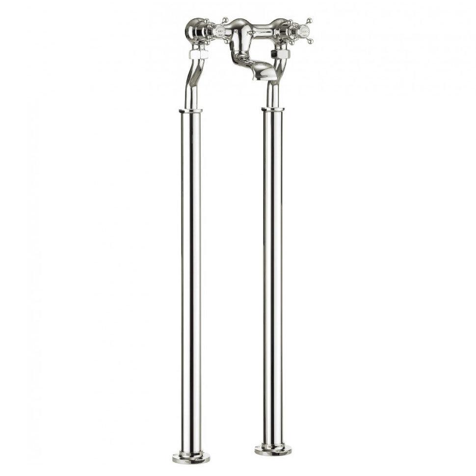 Crosswater - Belgravia Crosshead Floor Mounted Freestanding Bath Filler - Nickel Large Image