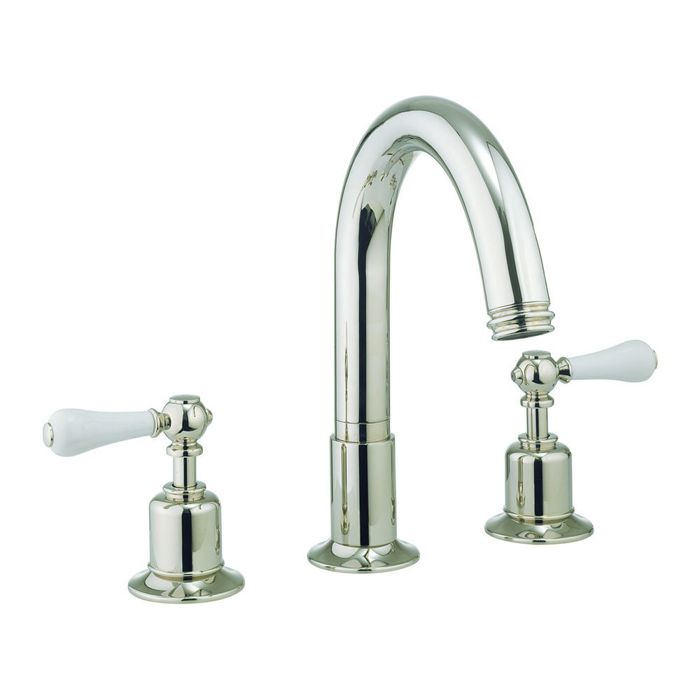 Crosswater - Belgravia Lever 3 Tap Hole Bath Mixer - Nickel - HG330DN_LV Large Image