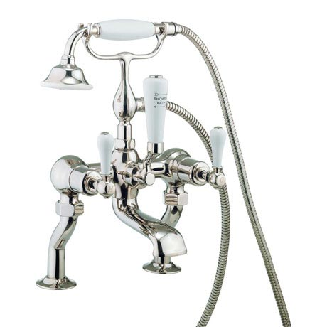 Crosswater - Belgravia Lever Bath Shower Mixer with Kit - Nickel - HG422DN_LV
