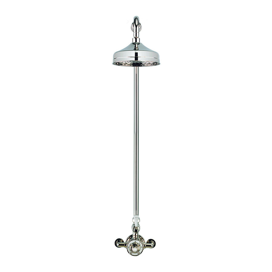 Crosswater - Belgravia Thermostatic Shower Valve with Fixed Head - Nickel profile large image view 2