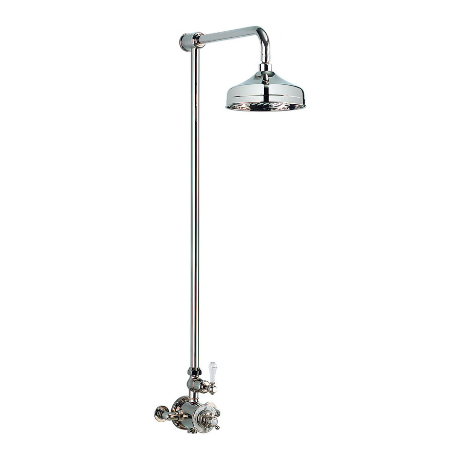 Crosswater - Belgravia Thermostatic Shower Valve with Fixed Head - Nickel Large Image