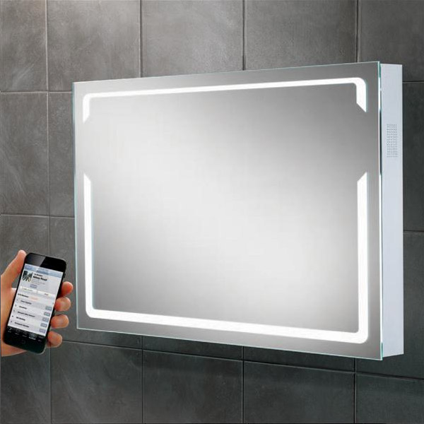 HIB - Pulse Bluetooth LED Mirror - H600 x W800 x D70mm - 77415000 Large Image
