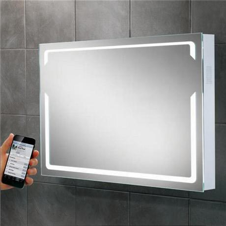HIB - Pulse Bluetooth LED Mirror - H600 x W800 x D70mm - 77415000