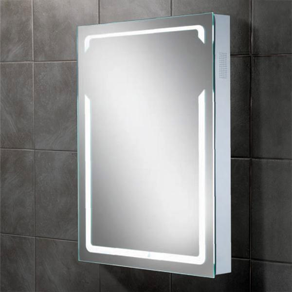 HIB - Vibe Bluetooth LED Mirror - H700 x W500 x D70mm - 77414000 Large Image