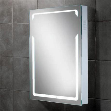 HIB - Vibe Bluetooth LED Mirror - H700 x W500 x D70mm - 77414000